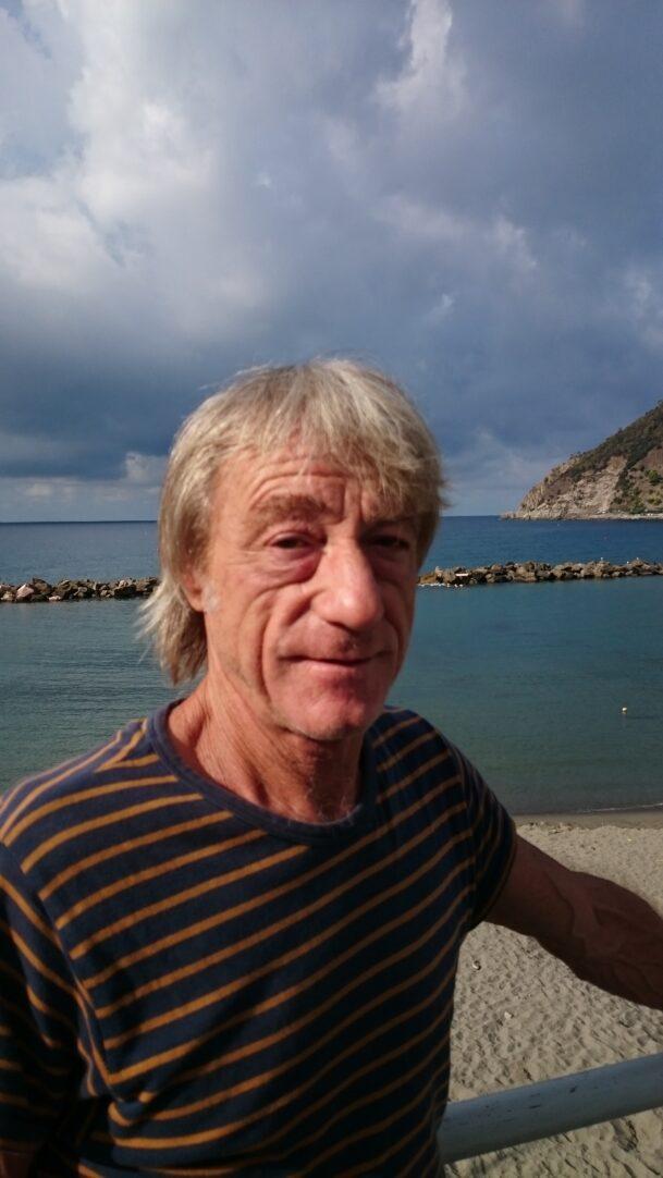 Fabio am Strand von Moneglia